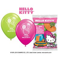 """Party Supplies - Pioneer Latex Balloons 6 ct 12"""" Hello Kitty 40946"""