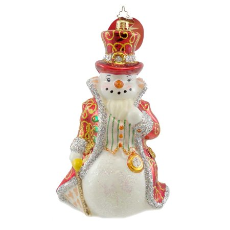 Christopher Radko LORD SNOWLEY Blown Glass Ornament Snowman Numbered Ltd - Retired Radko Halloween Ornaments