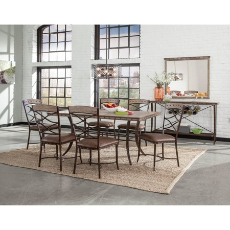 Hillsdale 6 Piece (Hillsdale Furniture Emmons 7-Piece Rectangle Dining Set )