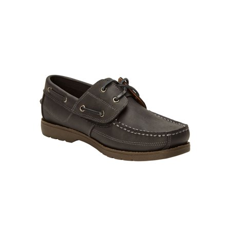 Kingsize Hidden Velcro Leather Boat Shoe ()