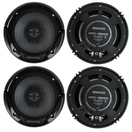 4) New Kenwood KFC-1666S 6.5 Inch 300 Watt 2-Way Car Audio Door Coaxial Speakers