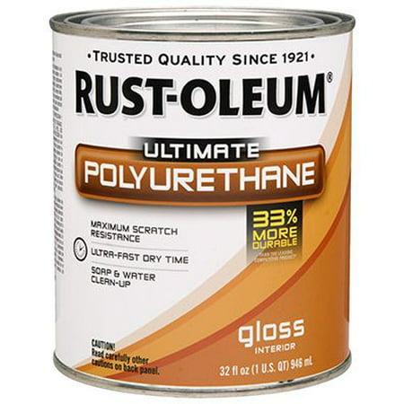 Gloss Interior Polyurethane - Rust-Oleum 260162 Ultimate Interior Polyurethane, Gloss, Qt.