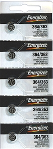 Energizer 364 363 SR621 Silver Oxide Button Battery 1.55V 100 Pack + FREE SHIPPING! by