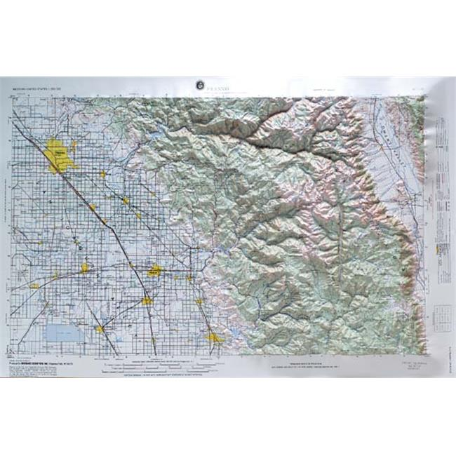 American Educational Products Nj1110 Fresno Map
