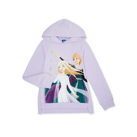 Frozen 2 Girls Printed Pullover Hoodie Sweatshirt, Sizes 4-16