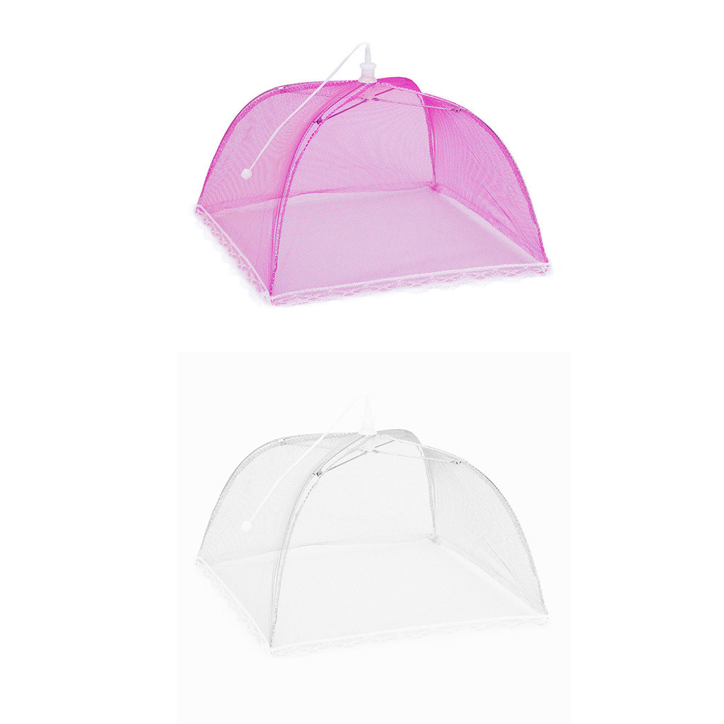 1 Large Pop-Up Mesh Screen Protect Food Cover Tent Dome Net Umbrella Picnic