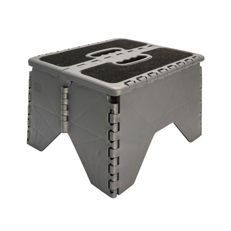 Camco 43635 Plastic Folding Step Stool with Non-Skid - (Plastic Folding Step Stool)