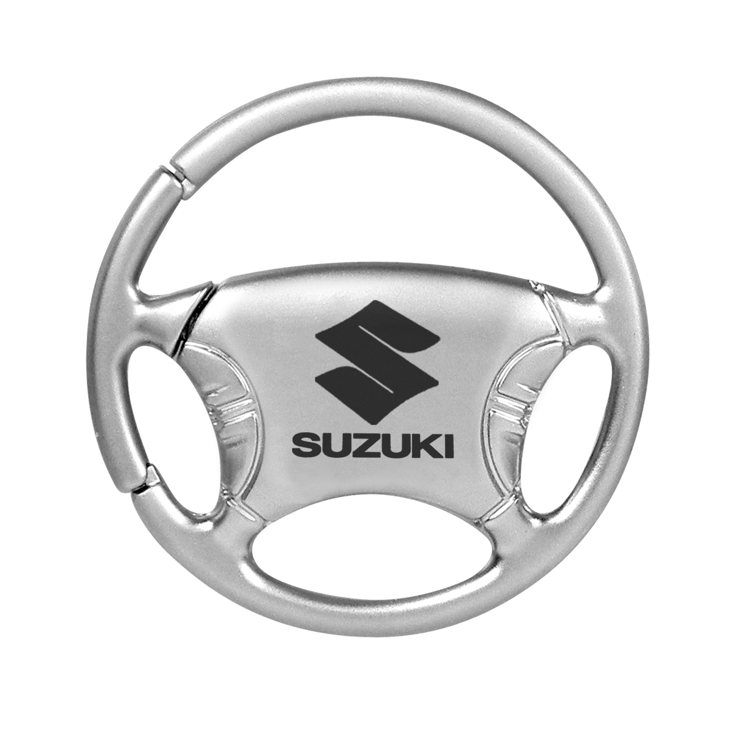 Suzuki Silver Steering Wheel Key Chain