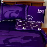NCAA Kansas State Bed Set Purple Cotton Bedding