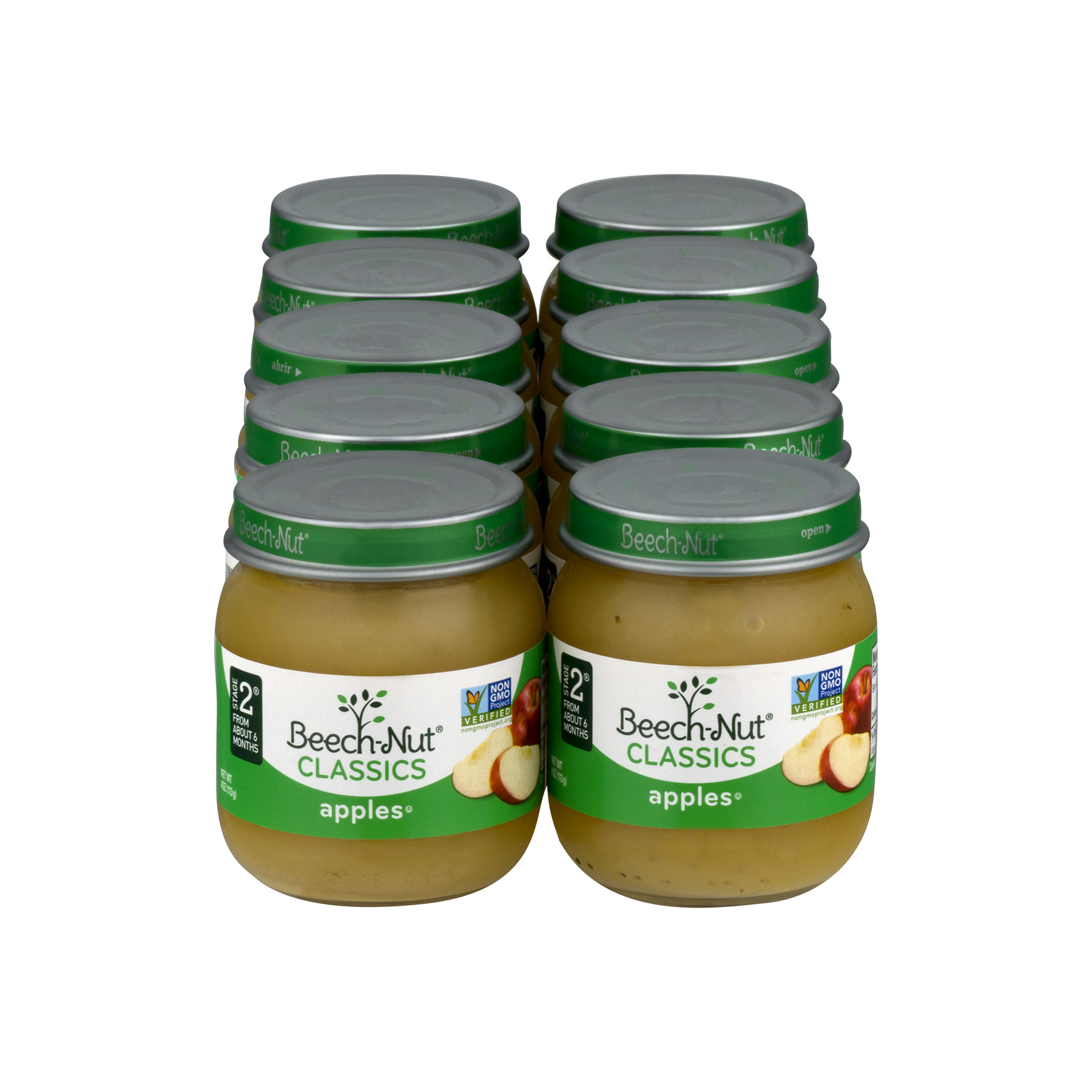 Beech-Nut Classics Apples Baby Food Stage 2 from About 6 Months, 4 oz