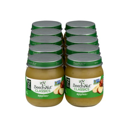10 Jars Beech Nut Baby Food Jar Stage 2 Apple 4 Oz