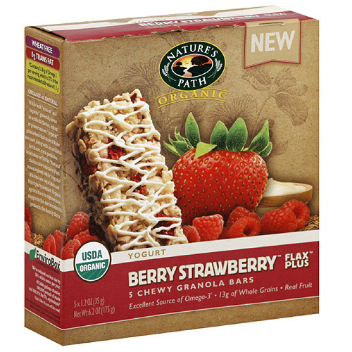 Nature's Path Organic Berry Strawberry Granola Bar, 1.2 oz (Pack of 6)
