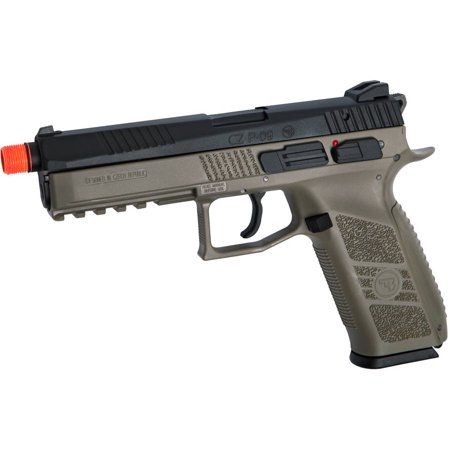 ASG CZ P-09 Gas Powered Airsoft Pistol with Outer Barrel Threading, FDE