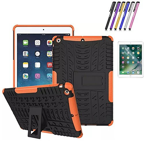 """New iPad 9.7"""" 2018/2017 Case, Mignova Hybrid Heavy Duty Armor Cover Double Layer Protection Shock Proof [Anti Slip] [Built-In Kickstand] Cover Skin Case For Apple New iPad 9.7"""" 2018/2017 Case (Black)"""