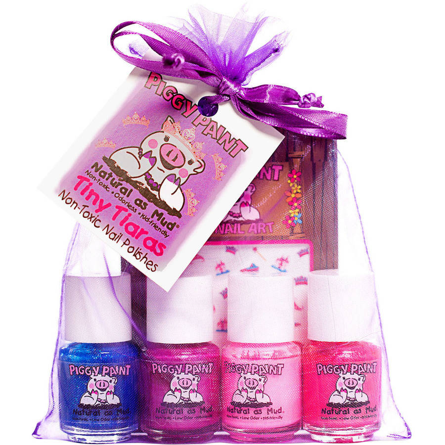 Piggy Paint Tiny Tiaras Mini Polish Gift Set, 5 pc