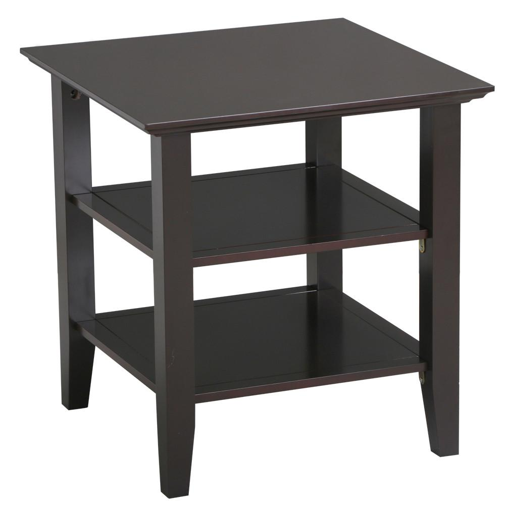 Superior Topeakmart Modern 3 Shelf End Table Sofa End Bed Side Stand Coffee Table  Espresso   Walmart.com