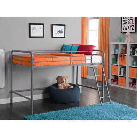 Dhp Junior Metal Loft Bed Twin Size Multiple Colors