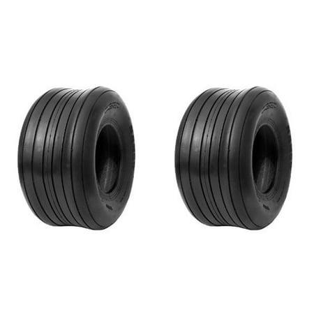 Set Of 2 Tubeless Rib Tread Tire 15X6.00X6 4 Ply 15X6X6 2 Ply Rib Tread