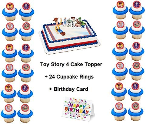 TOY STORY JESSIE COLOURFUL STAR BORDER PRECUT EDIBLE 7.5 INCH CAKE TOPPER 4U20