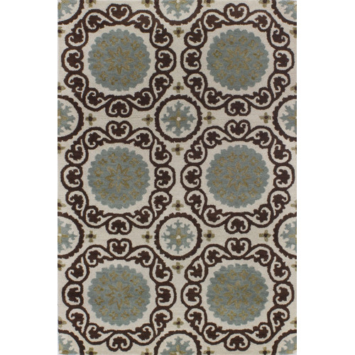 Bashian Rugs Ashland Ivory & Chocolate Area Rug