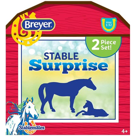 Breyer Stablemates Stable Surprise | 2 Horse Set | 1:32 Scale | Model #6049