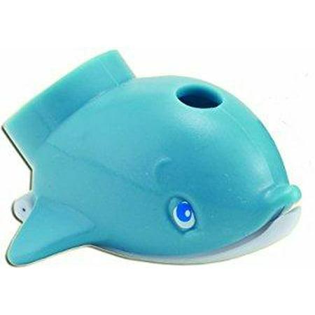Wall Fountain Spout (Jokari Dolphin Faucet Fountain - Kids Bathroom Sink Tap Water Drinking)