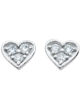 925 Sterling Silver Heart Earrings Studs Makes Unique Happy Anniversary Gifts, Heart Sterling Silver Earrings