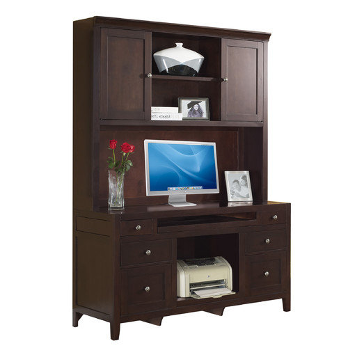 Fairfax Home Collections Companion Credenza Desk with Hutch