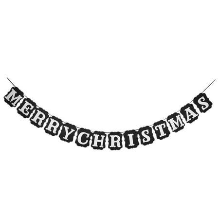 Joy Banner (Unique Bargains Christmas Party Paper JOY TO THE WORLD Letter Decoration Photo Prop Banner Black)