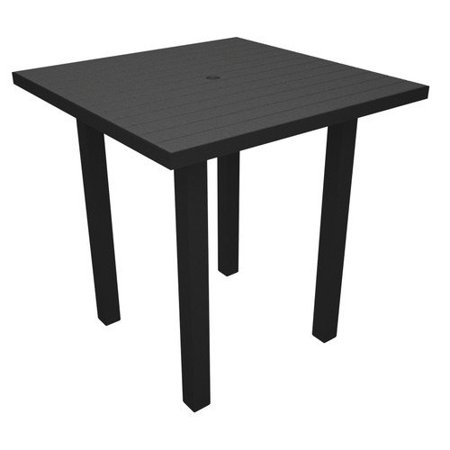- Euro Counter Table - Frame Finish: Textured Bronze, Top Finish: Green