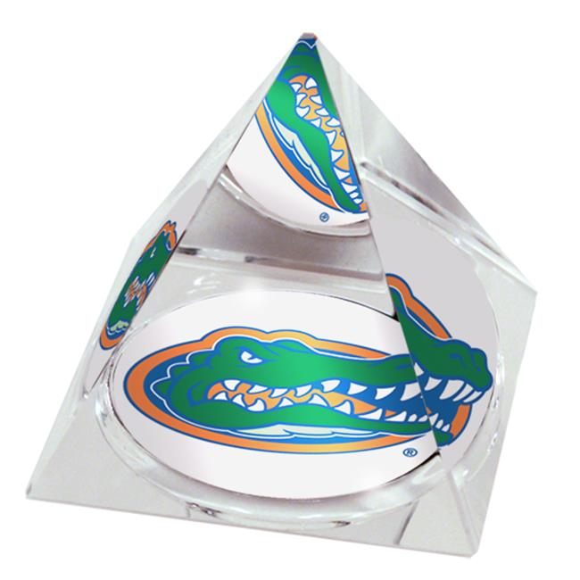 Paragon Innovations Company FloridaULargePYR NCAA Florida University Mascot Large Crystal Pyramid