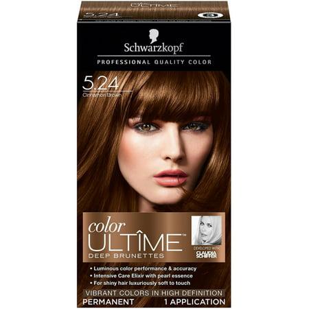 Schwarzkopf Color Ultime Deep Brunettes Hair Coloring Kit, Cinnamon Brown [5.24] 1 ea (Pack of
