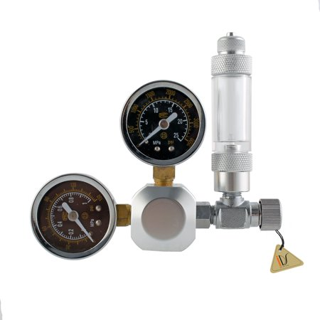 Aquarium Dual Gauge CO2 Pressure Regulator Valve + Bubble Counter Gauge