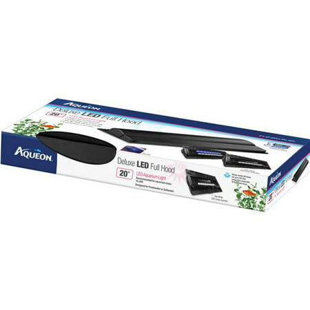 "Aqueon Deluxe Led Full Hood For Aquariums - 20""L x 9.63""W x 2.5""H - 2 Watts - (Fits Aquarium Sizes 10, 20X)"