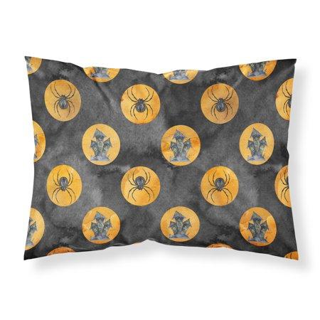 Halloween Pillowcase - Watecolor Halloween Circles Fabric Standard Pillowcase BB7529PILLOWCASE