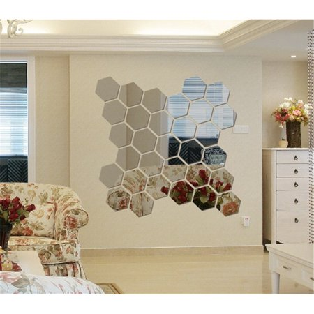 New 12pcs 3D Mirror Hexagon Vinyl Removable Wall Sticker Home Room Decor Art DIY](Diy Halloween Room Decor)