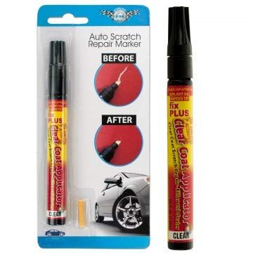 Auto Scratch Repair Marker Pen Remover Filler & Sealer Clear Car Coat Applicator for All Cars Vehicle Automobile Truck | Odorless Non Toxic| UV Sunlight Activated | Permanent and water