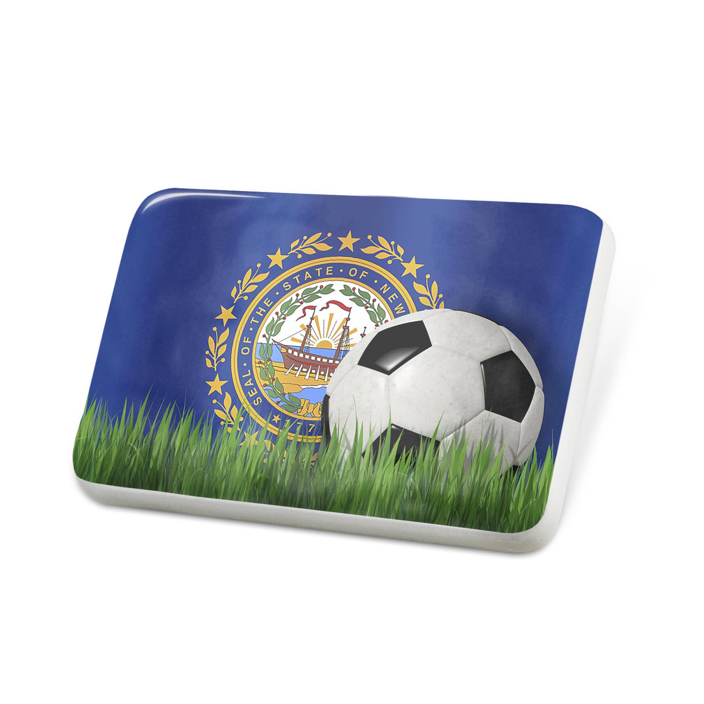 Porcelein Pin Soccer Team Flag New Hampshire region America (USA) Lapel Badge – NEONBLOND
