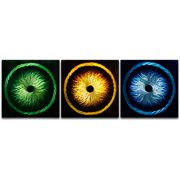 Metal Artscape Electric Medusas 3 Piece Graphic Art Plaque Set