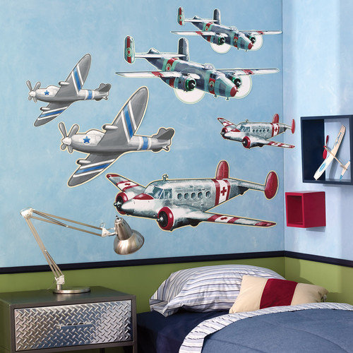 Wallies Airplanes Wall Decal (Set of 2)
