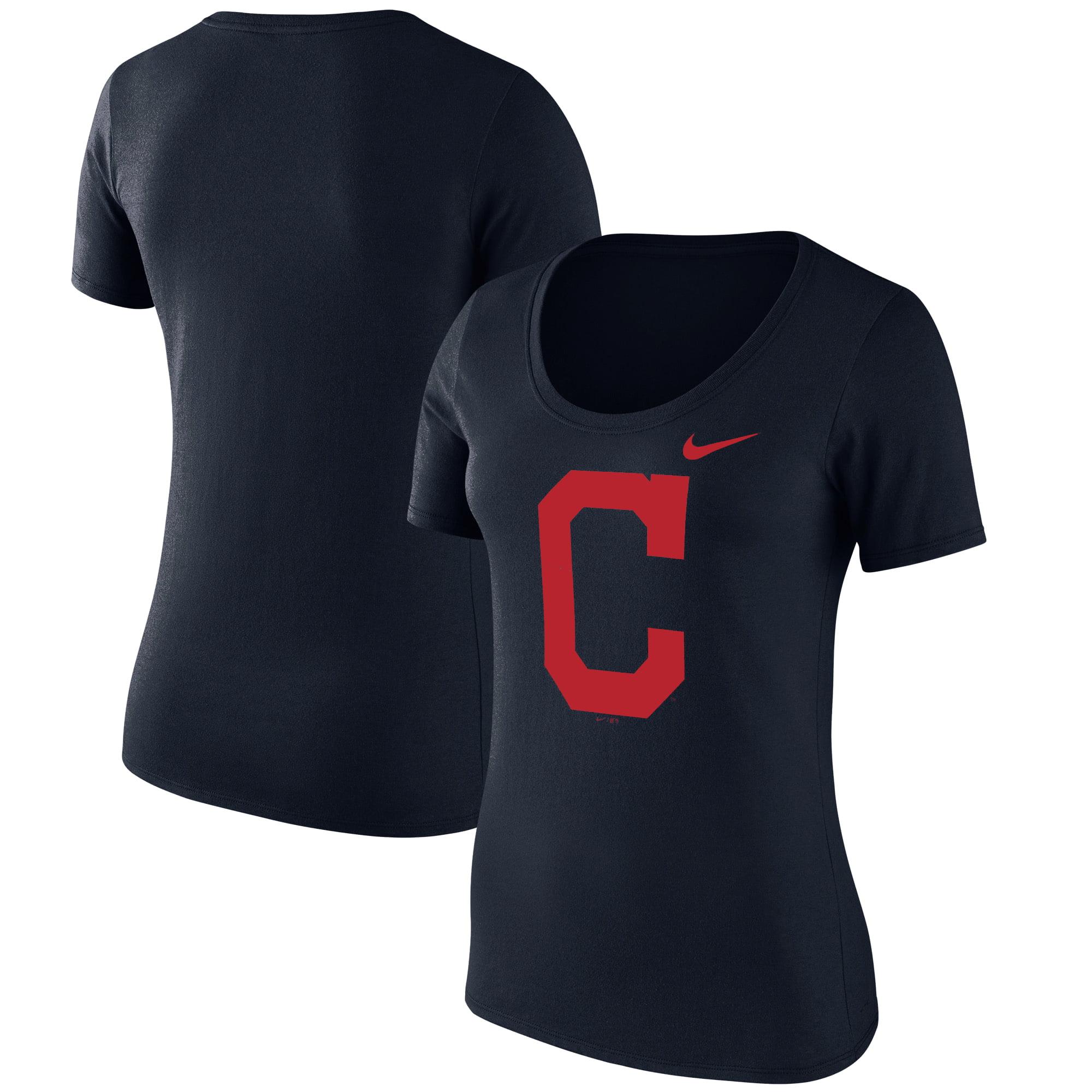 Cleveland Indians Nike Women's Logo Scoop Neck T-Shirt - Navy
