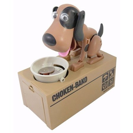 Piggy Bank   Mechanical Coin Eating Doggie Coin Holder By My Dog