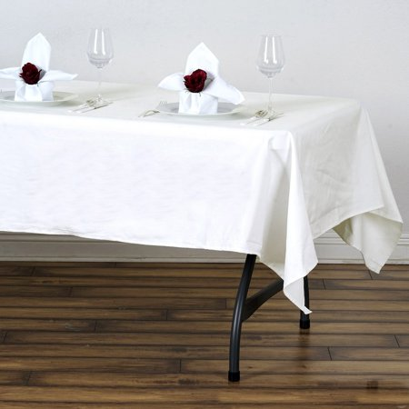 Efavormart 60x102 Rectangle Chambury Casa 100% Cotton Tablecloth For Party Decoration for Kitchen Dining Catering Wedding Birthday ()