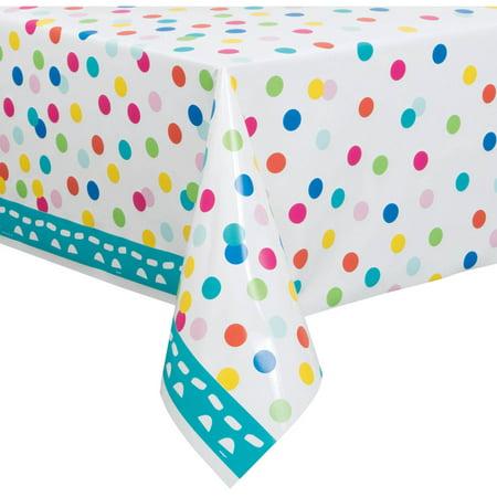 (3 Pack) Unique Confetti Cake Birthday Plastic Table Cover, 84
