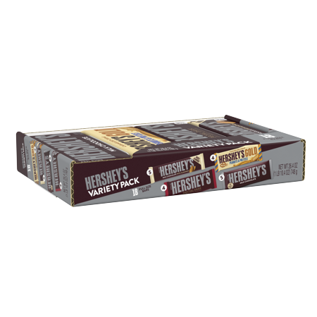 Hershey's, Halloween Gold Variety Box, 26.4 oz, 18 ct (Willy Wonka Chocolate Candy Bar)
