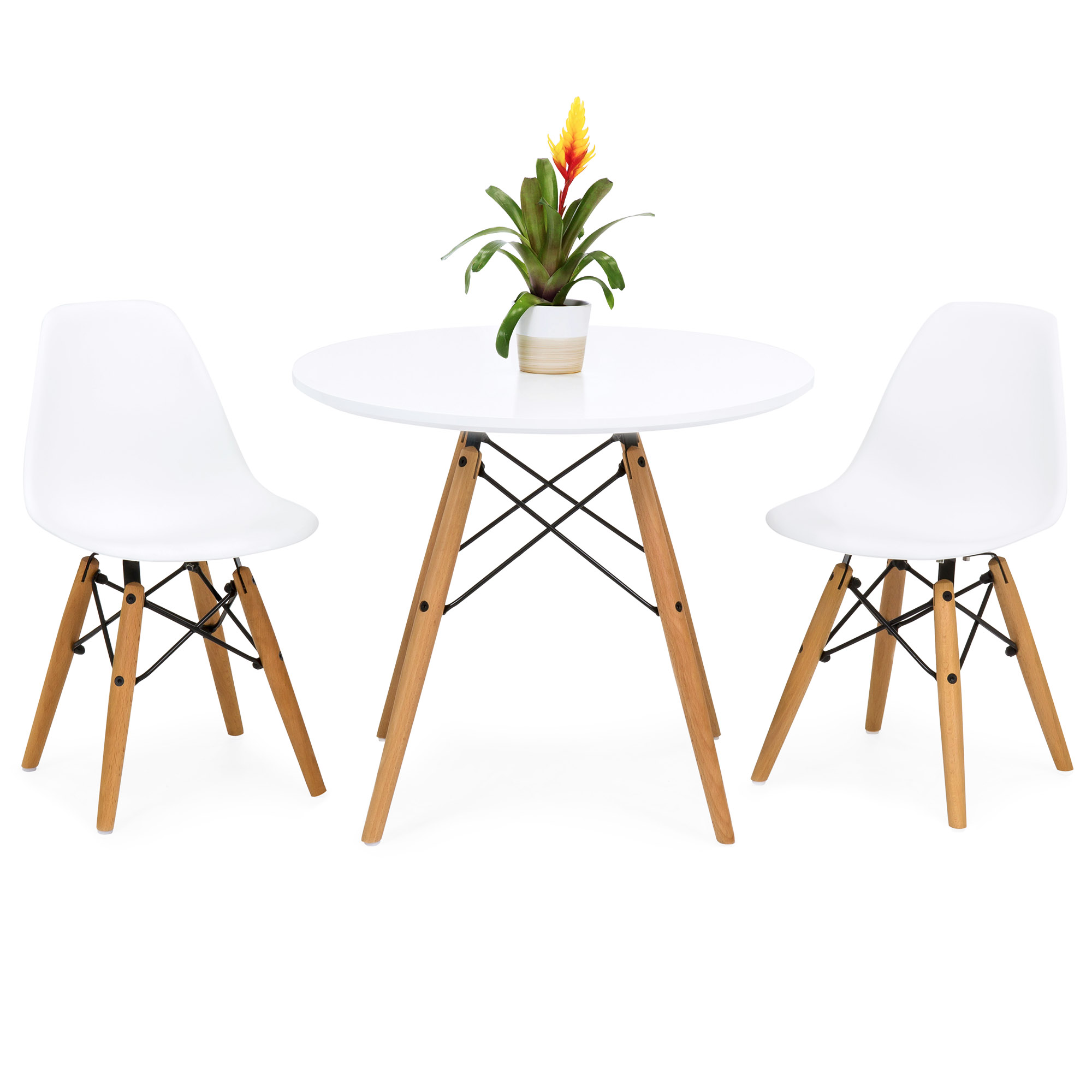Wooden Small Dining Table And 2 Chairs Set Contemporary: Best Choice Products Kids Mid-Century Modern Mini Eames