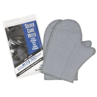 Blitz Silver Care Polishing & Cleaning Mitts with Tarnish