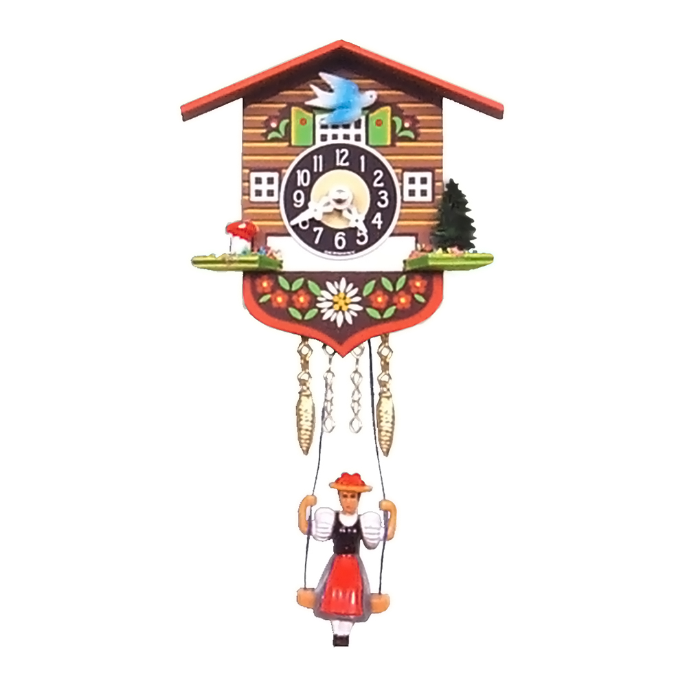 """Engstler Christmas Decor Battery-Operated Clock - Mini Size - 4""""""""H X 4.25""""""""W X 2.14""""""""D"""