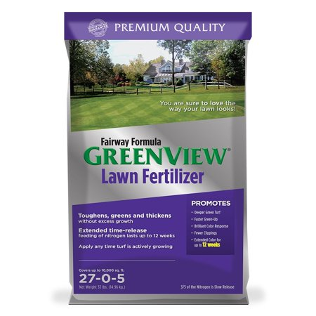 GreenView Fairway Formula Lawn Fertilizer, 33 lb bag covers 10,000 sq ft