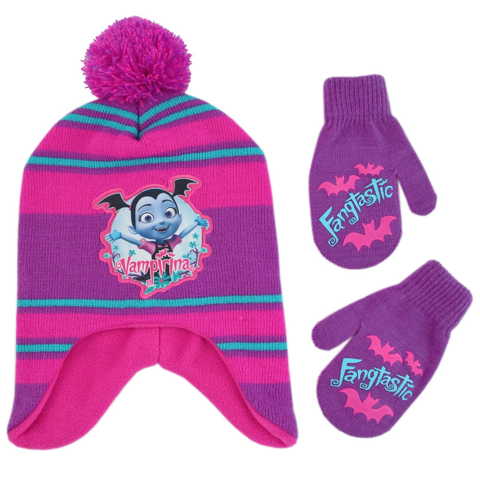 Small Pink Paw Patrol S// Purple Paw Patrol Skye Girls/' Scarf Hat and Glove Set